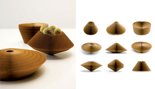 Cardboard-vases