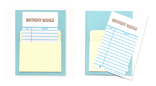 Birthday-library-card